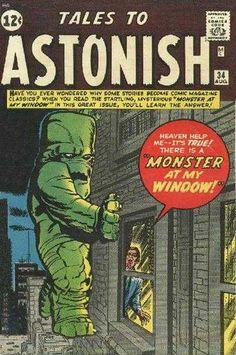 Tales to Astonish #34 - A Monster At My Window!