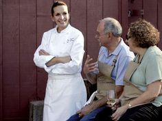 "Andrea speaking to guests at ""The Art of Wood-Fired Cooking"" school in Healdsburg, CA."