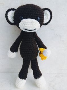 Crochet Monkey George Amigurumi cute handmade baby by CrochetJP