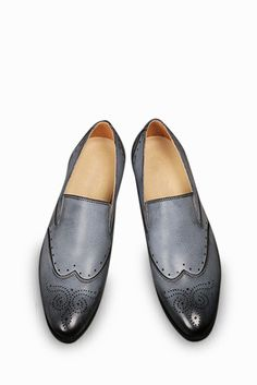 Brogue Elegant Dress Loafers In Gray #app-men #classic #meta-filter-color-gray #meta-filter-size-6 #meta-filter-size-6-5 #meta-filter-size-7 #meta-filter-size-7-5 #meta-filter-size-8 #meta-filter-size-8-5 #over-50