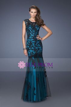 2014 Noble Prom Dresses Sweetheart Mermaid Floor Length With Trumpet Tulle Skirt