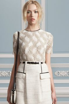 Jason Wu Resort 2012 Embroidered Short Sleeve Top Photograph