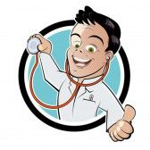 Illustration of funny cartoon doctor vector art, clipart and stock vectors. I Think Im Depressed, Get My First Job, Banner Printing, Facebook Image, Michel, Funny Cartoons, How To Raise Money, Fundraising, Socialism