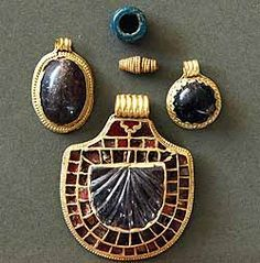 brooches A series of remarkable finds from the only known Anglo Saxon royal burial site in the North of England were unveiled to the public for the first time at Kirkleatham Museum mid 7th C