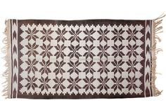 """Brown Stars Dhurrie, 3'5"""" x 6'5"""" - hope to find something like this on my travels"""