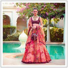 Floral Lehenga, Pink Lehenga, Bridal Lehenga, Lehenga Choli, Bollywood Lehenga, Sabyasachi Lehenga Bridal, Kanjivaram Sarees, Silk Dupatta, Sharara