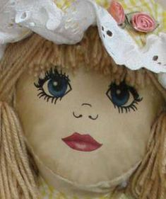Painted Wooden Doll Heads with Faces - Deli Musta Doll Patterns Free, Doll Sewing Patterns, Doll Clothes Patterns, Free Pattern, Doll Face Paint, Doll Painting, Rag Doll Tutorial, Fabric Dolls, Rag Dolls