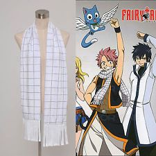 FAIRY TAIL Natsu Dragneel Plaid Muffle Women Men Scarf Halloween Cosplay Costume