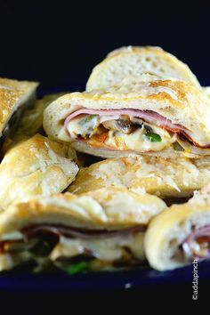 Stromboli makes an easy family favorite recipe! Stuffed with meat, cheeses, and vegetables, a stromboli is then rolled and baked to perfection!