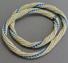 Tutorial for Tubular Herringbone With a Twist by Gail DeLuca Necklace Set, Beaded Necklace, Beaded Bracelets, Beaded Jewelry Designs, Bead Jewelry, Jewelry Ideas, Diy Jewelry, Jewlery, Knitted Necklace