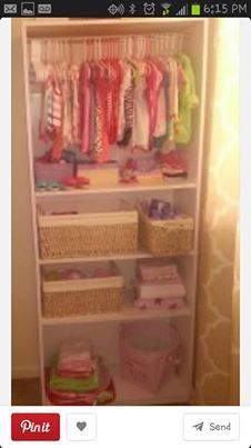 DIY-Turn old shelf into a closet for baby!