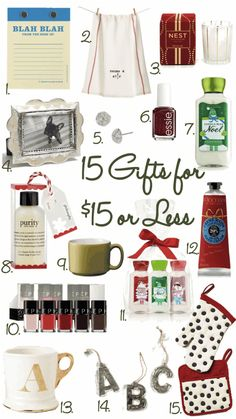 15 gifts under $15 : great gift ideas for coworkers, Dirty Santa, etc.