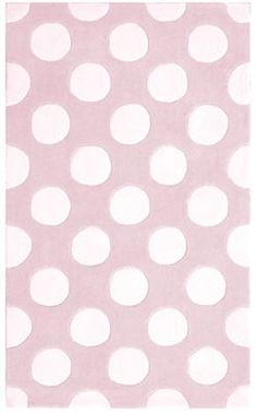 Pink And White Polka Dot Area Rugs For Kids!