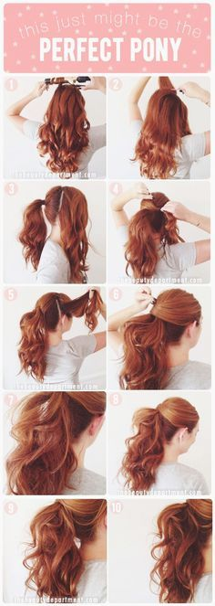 Lucy Hale's VMA Ponytail Tutorial - 11 Runway-Ready Ponytail Tutorials for Every Occasion | GleamItUp