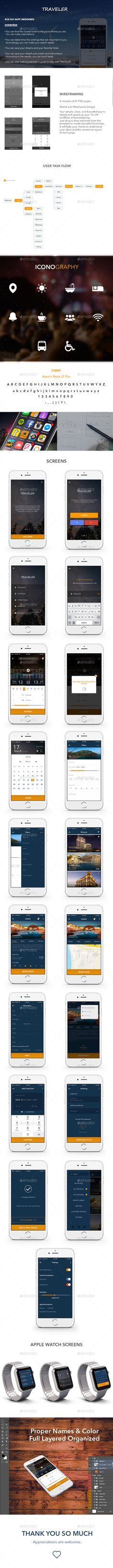 Flat Mobile App UI | Pinterest | Mobile app ui, Mobile app and User ...