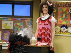 Knock, knock...who's there?...it's Gilly (Kristen Wiig) on SNL. SORRY.