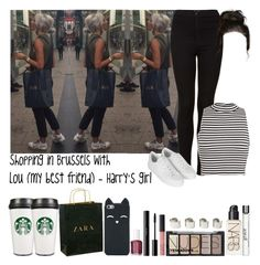 """Shopping in Brussels with Lou (my best friend) - Harry's girl"" by fxrever-isnt-for-everyone ❤ liked on Polyvore featuring Zara, Topshop, Miss Selfridge, H&M, NARS Cosmetics, philosophy, Maison Margiela, Essie and shu uemura"