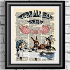 Hey, I found this really awesome Etsy listing at https://www.etsy.com/listing/180534154/dictionary-book-page-print-alice-in