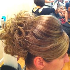 My updo creation for a wedding
