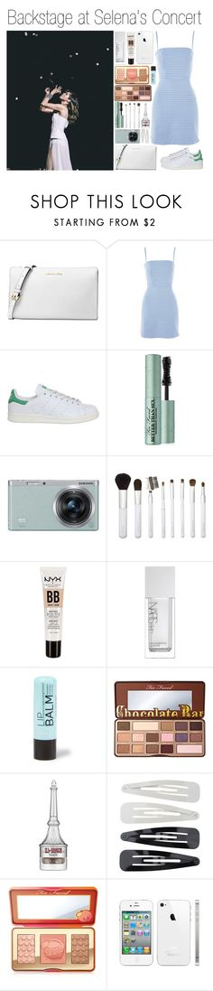 """""""Backstage at Selena's Concert"""" by daniellasinni ❤ liked on Polyvore featuring Michael Kors, Nobody's Child, adidas, Too Faced Cosmetics, Samsung, Sonia Kashuk, NYX, NARS Cosmetics, Benefit and Forever 21"""