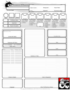 Dyslexia-Assistive Character Sheet - Dungeon Masters Guild | Dungeon Masters Guild