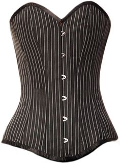 Check out this item on The Violet Vixen Boardroom Bombshell Overbust Black-White Corset #thevioletvixen