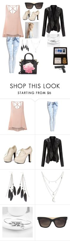 """""""Fbi"""" by lolz-boyd ❤ liked on Polyvore featuring Glamorous, Pilot, Sidewalk, Miss Selfridge, Charlotte Russe, Valentino and Calvin Klein"""