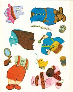 Paper Dolls are based on the Flintstone's cartoon characters.  Pebbles is Fred and Wilma Flintstone's daughter, while Bamm Bamm is Barney and Betty Rubles' son.  Whitman 1965.
