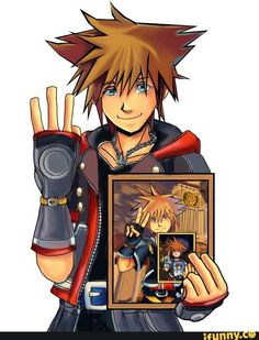 a picture of Sora with a picture of himself and so on
