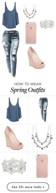 """""""Spring Outfit"""" by iilovingthis on Polyvore featuring RVCA, Jessica Simpson, Givenchy and M&Co"""