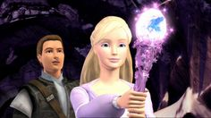 Annika and Aidan with the Wand of Light from Barbie and the Magic of Pegasus