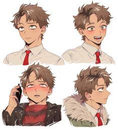 Cute Anime Boy, Anime Boys, Anime Boy Hair, Anime W, Anime Poses Reference, Boy Art, Character Design Inspiration, Manga Art, Cartoon Art
