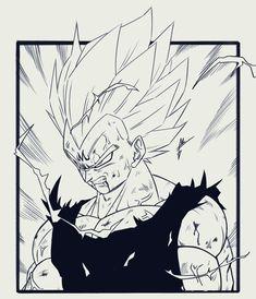 Graffiti Drawing, Cool Art Drawings, Majin Tattoo, Evil Goku, Ball Drawing, Naruto Uzumaki Art, Anime Tattoos, Halloween Art, Cartoon Art