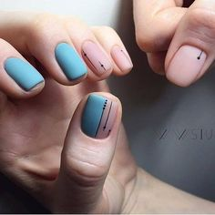 Simple Line Nail Art Designs You Need To Try Now line nail art design, minimalist nails, simple nails, stripes line nail designs Fancy Nail Art, Fancy Nails, Trendy Nails, Cute Nails, My Nails, Minimalist Nails, Minimalist Design, Square Nail Designs, Nail Art Designs