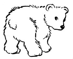 Bear Coloring Pages Black