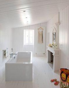Casinha colorida: Especial banheiros 2016: os com banheiras modernas