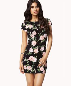 Garden Rose Bodycon Dress | FOREVER21 Where would you strut this bodycon dress? #Floral #Summer #MustHave