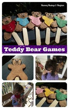 Toddler Felt Teddy Bear Games...easy to make and they provide so many learning opportunities...colour recognition, counting, position concepts, following directions and so much more!