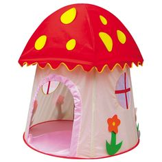 36.50$  Know more  - 2016 New teepee Pink Mushroom Castle Tents Child Play Game House Children Indoor Garden Outdoor Sand Beach Folding Tent Toys