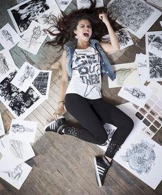 Selena Gomez Goes Rock Chick