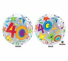 Happy Birthday Bubble Balloon 22 Quality Qualatex * Be sure to check out this awesome product. (This is an affiliate link) Bubble Birthday, Happy 40th Birthday, 40th Birthday Parties, Happy Birthday Quotes, Birthday Shirts, Balloon Toys, Plastic Balloons, Bubble Balloons, Bubbles