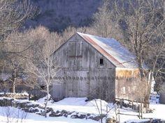Vermont barn in winter. Subtle beauty!