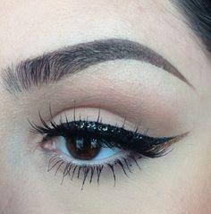 Black glitter cat eye liner #eyes #eye #makeup