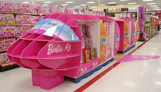 El display de barbie muy original y de grandes dimensiones. Alberto Soto  Barbie Jet - Toy Spectacular Display