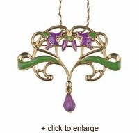 Lotus Flower Vine Pendant