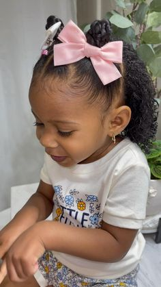 Mixed Baby Hairstyles, Little Girls Natural Hairstyles, Cute Toddler Hairstyles, Kids Curly Hairstyles, Black Toddler Girl Hairstyles, Easy Hairstyle, Braids For Kids, Kid Braids, Up Girl