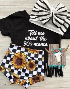 If you do not want the T-shirt fringed please write that in the notes at checkout! Cute Baby Girl Outfits, Toddler Outfits, Kids Outfits, My Baby Girl, Baby Girl Newborn, Mama Baby, Baby Girl Fashion, Kids Fashion, Western Babies