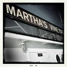 Ferry Sign Marthas Vineyard 4x4 Print by artbysharianne on Etsy, $6.00