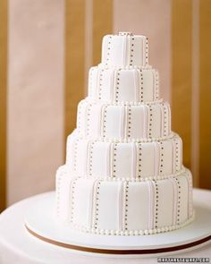 """See the """"Lines and Dots Wedding Cake"""" in our Modern Wedding Cakes gallery"""