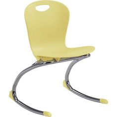 "Virco ZUMA Rocker - 15"" Seat Height Flame Retardant Additive Shell: Included, Frame Color: Chrome, Seat Color: Driftwood"